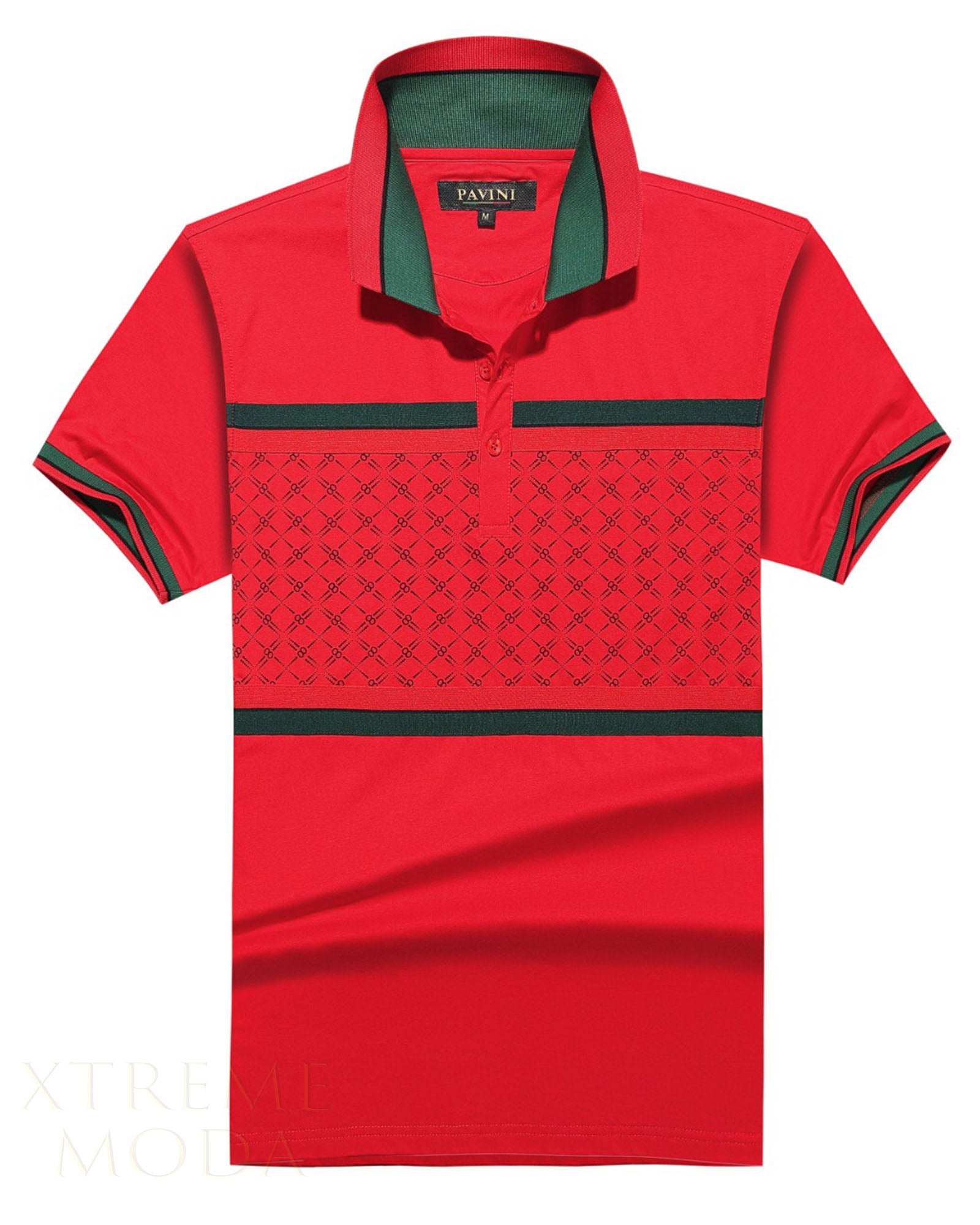 SLIM fit Pavini polo shirt  P-1928 Red