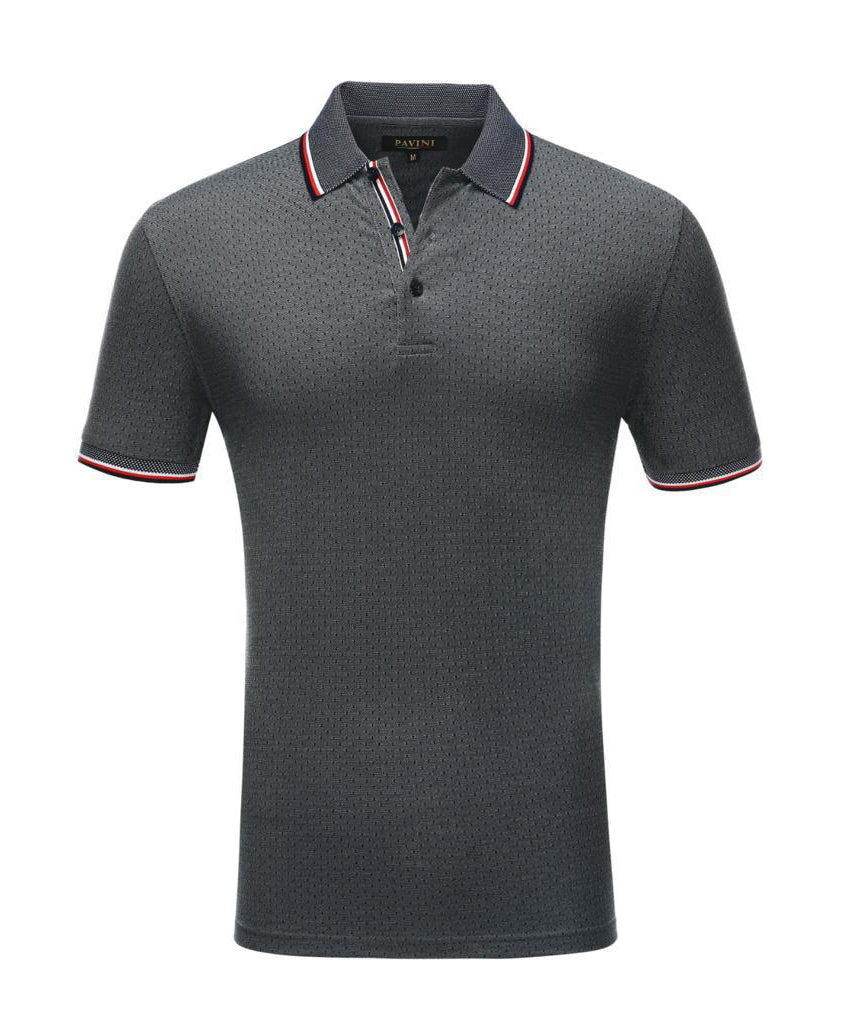 Elegant polo shirt Gray