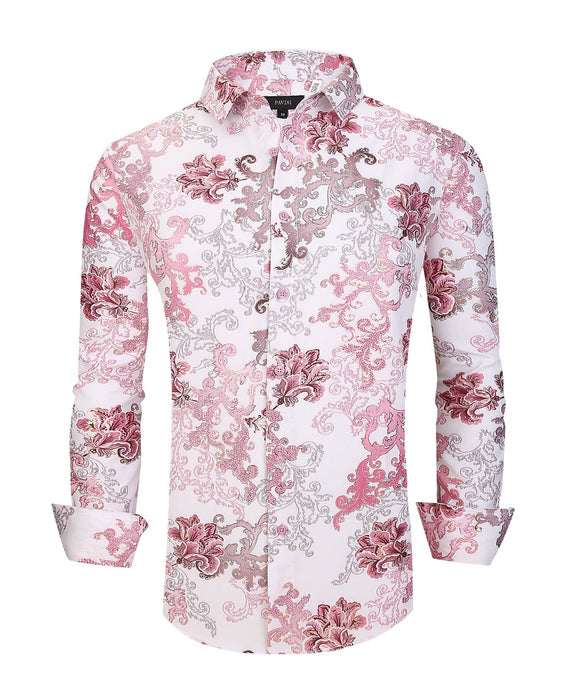 Pavini  fashion shirt LS020-001 pink
