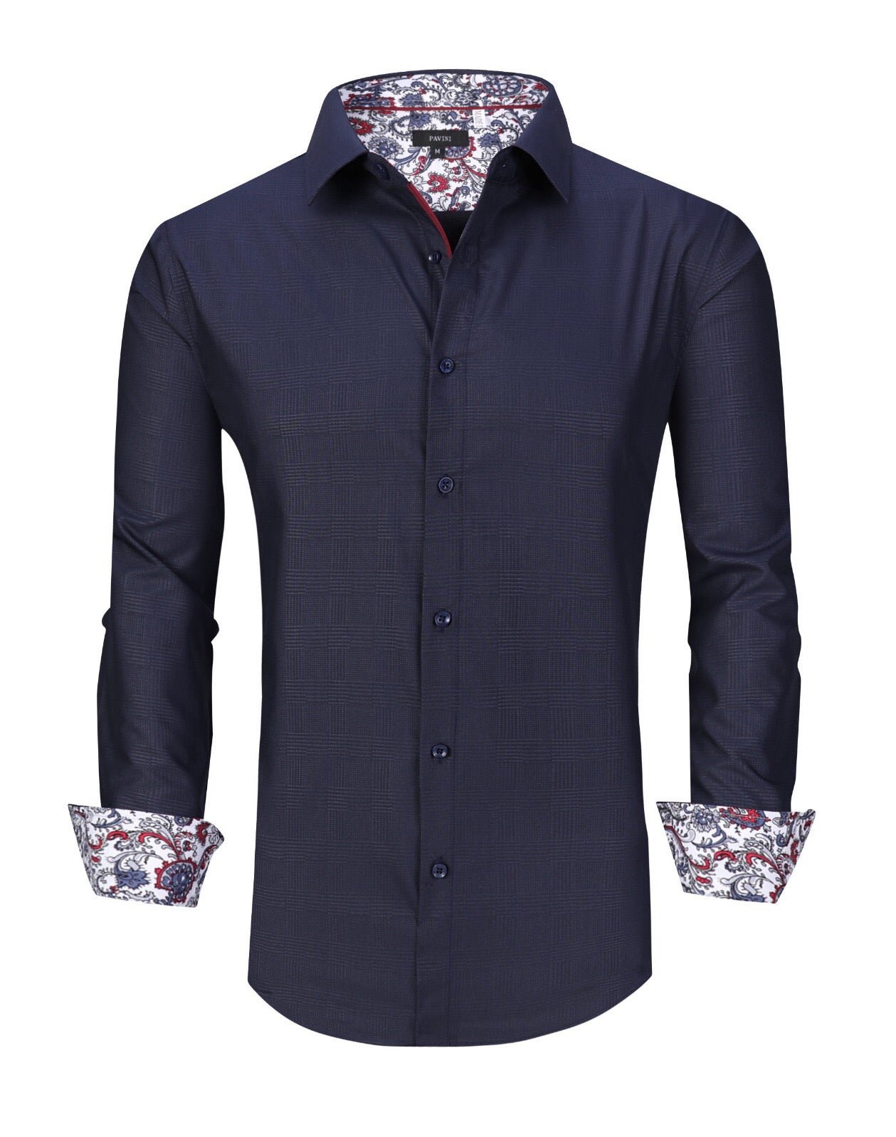 Pavini  fashion shirt LS019-027 navy