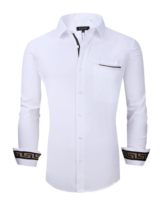 Regular fit zig zag stripe  shirt  white
