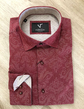 Load image into Gallery viewer, slim fit stretch dress shirt VT1000 burg.
