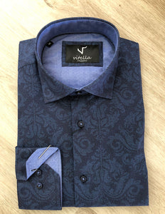 Slim fit stretch shirt vt 1000 navy.