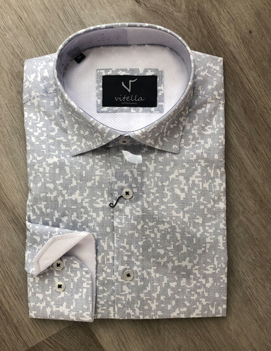 slim fit stretch dress shirt vt 1003 wht