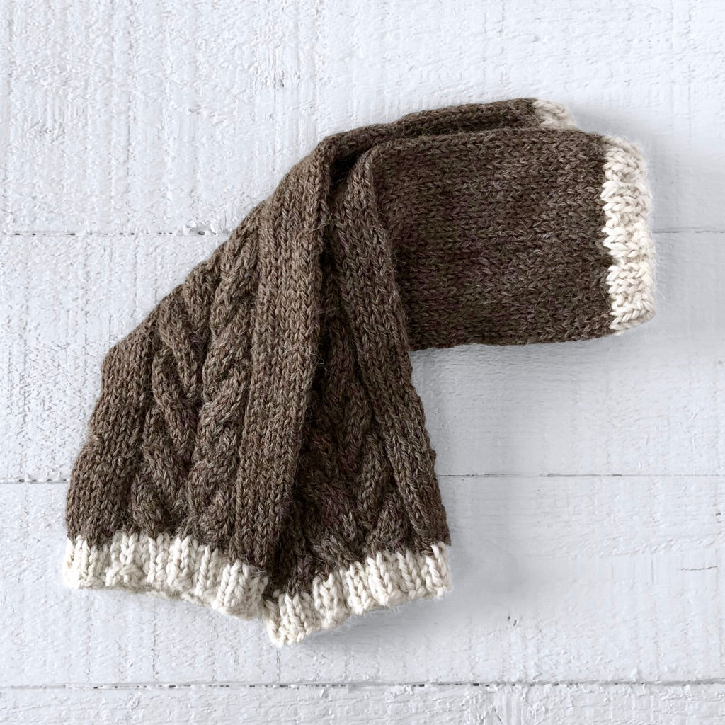 Wristwarmers (brown/cream)
