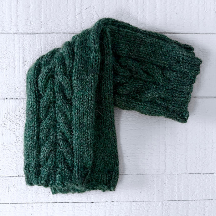 Wristwarmers (emerald green)