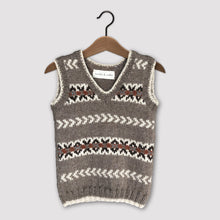Load image into Gallery viewer, Fair Isle vest (brown/rust)