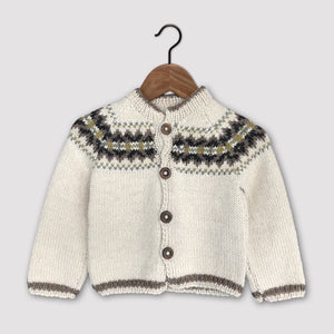 Intricate Fair Isle cardigan (cream/multi)
