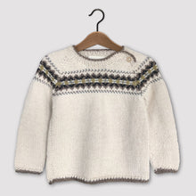 Load image into Gallery viewer, Intricate Fair Isle jumper (cream/multi)