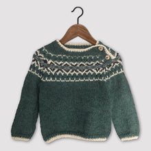 Load image into Gallery viewer, Intricate Fair Isle jumper (green/multi)