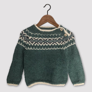 Intricate Fair Isle jumper (green/multi)