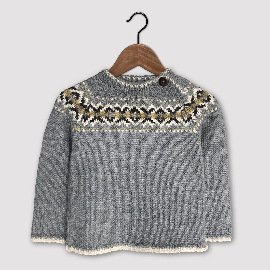 Intricate Fair Isle jumper (grey/multi)
