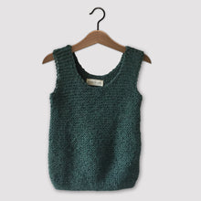Load image into Gallery viewer, Loose knit vest (emerald green)