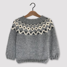 Load image into Gallery viewer, Scandi Fair Isle yoke jumper (grey/cream)