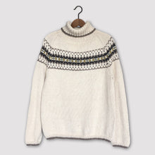 Load image into Gallery viewer, Intricate Fair Isle polo neck (cream/multi)