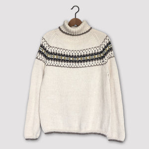 Intricate Fair Isle polo neck (cream/multi)