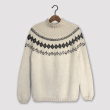 Load image into Gallery viewer, Scandi Fair Isle yoke jumper (cream/brown)
