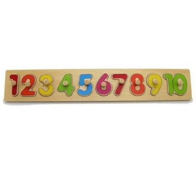 Wooden Number Puzzle with Knobs