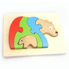 Load image into Gallery viewer, Wooden Stacking Jigsaw - BEAR & BABY