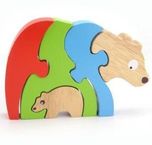 Wooden Stacking Jigsaw - BEAR & BABY
