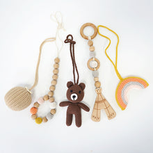 Load image into Gallery viewer, Handmade Hanging Crochet Bear Toys Set