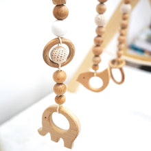 Load image into Gallery viewer, 3 pcs/set Hanging Animal Beech Wood Toy with Wooden Crochet Beads for Baby Play Gym, Mobile Crib, Pram