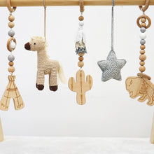 Load image into Gallery viewer, Handmade Hanging Crochet Cowboy Horse Toys Set