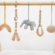 Load image into Gallery viewer, Handmade Hanging Crochet Elephant Toys Set (wooden frame not included)