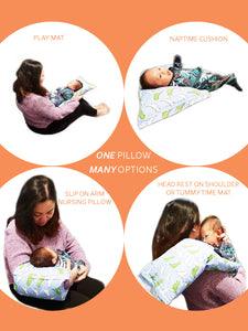 Breastfeeding Arm Support Pillow, Tummy-Time Pillow, Toddler Pillow - Brown