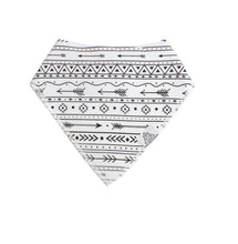 Load image into Gallery viewer, 3pc Set Fashionable Baby Organic Bandana Bibs - White, Grey, & Black Arrows