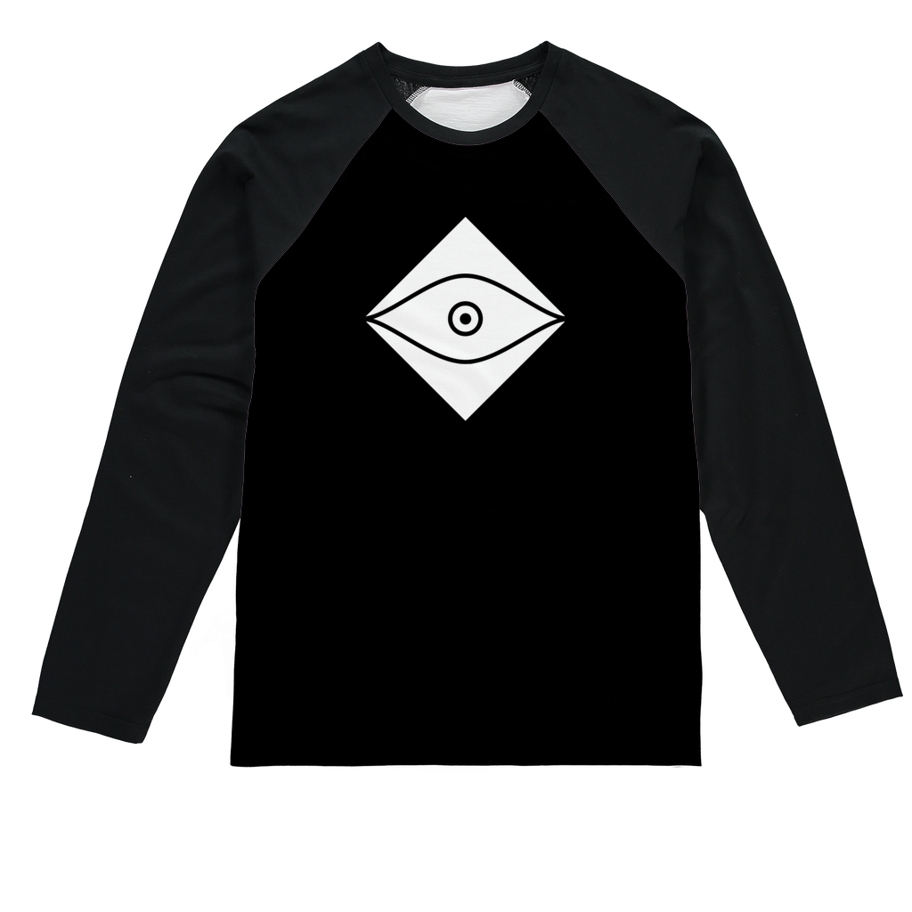 Seers Dark Sublimation Baseball Long Sleeve T-Shirt - The Seers Playing Cards