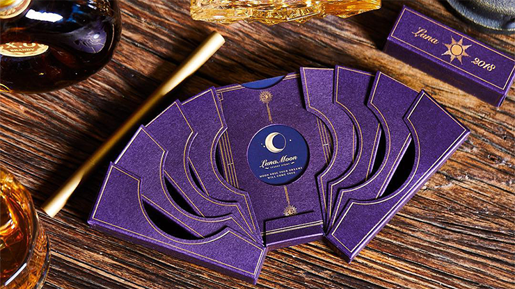 Limited Edition Violet Luna Moon Playing Card by Bocopo - The Seers Playing Cards