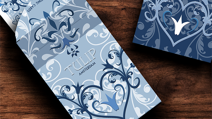 Tulip Playing Cards (Light Blue) by Dutch Card House Company - The Seers Playing Cards