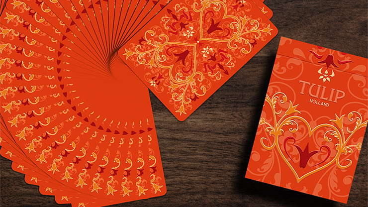 Tulip Playing Cards (Orange) by Dutch Card House Company - The Seers Playing Cards