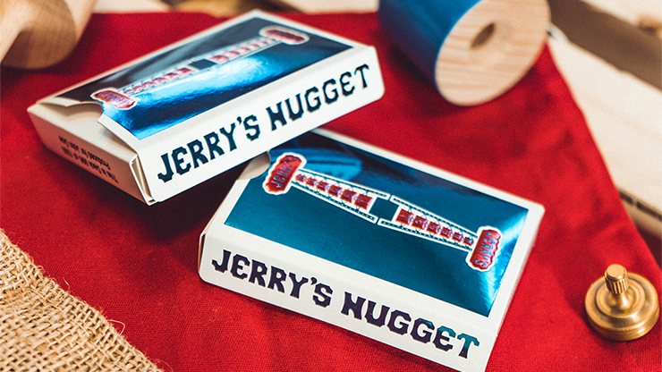 Vintage Feel Jerry's Nuggets (Blue Foil) Playing Cards - The Seers Playing Cards