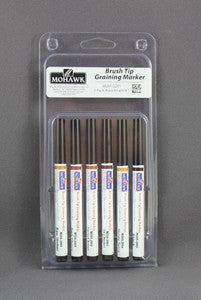 Brush Tip Graining Markers 6 pack Assortment