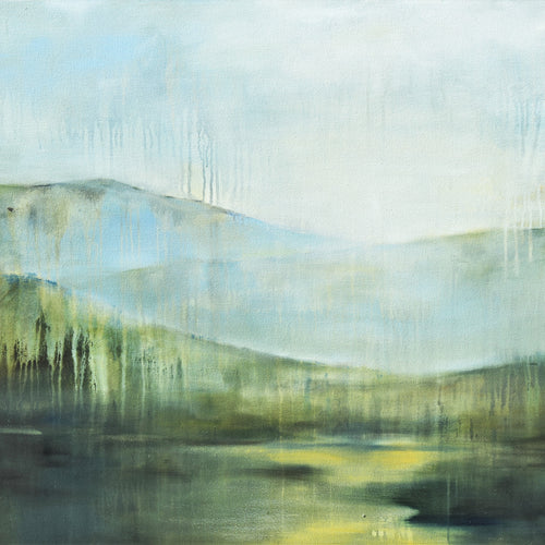 Quiet Time - Psalm 23:1-2, 12x12 Giclee on Canvas
