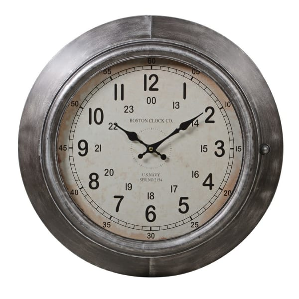 Antique silver wall clock