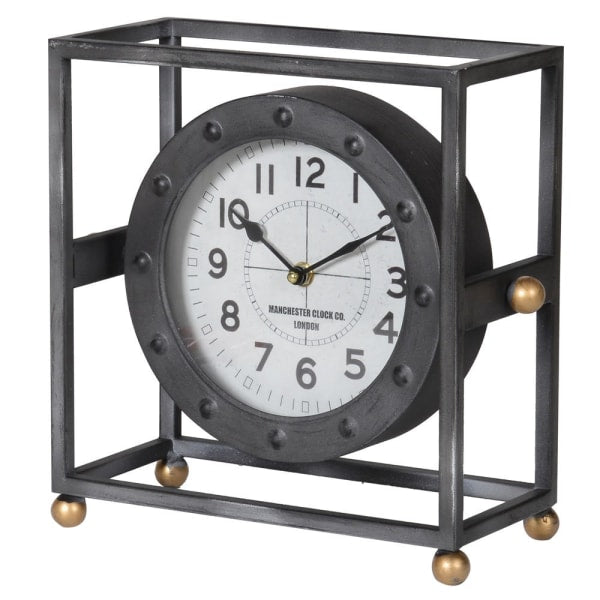 Industrial style mantle clock