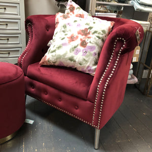 Burgundy Chesterfield Tub Chair