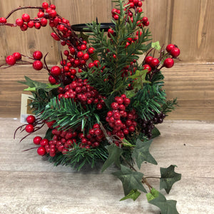 Woodland Berry candle centrepiece