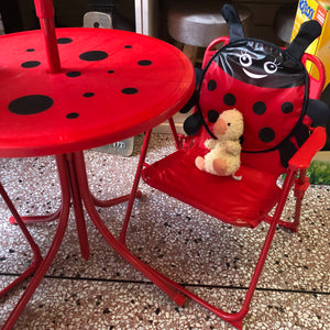 Children's outdoor/garden/patio set-ladybird