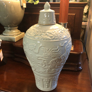 Ornate oriental ginger jar