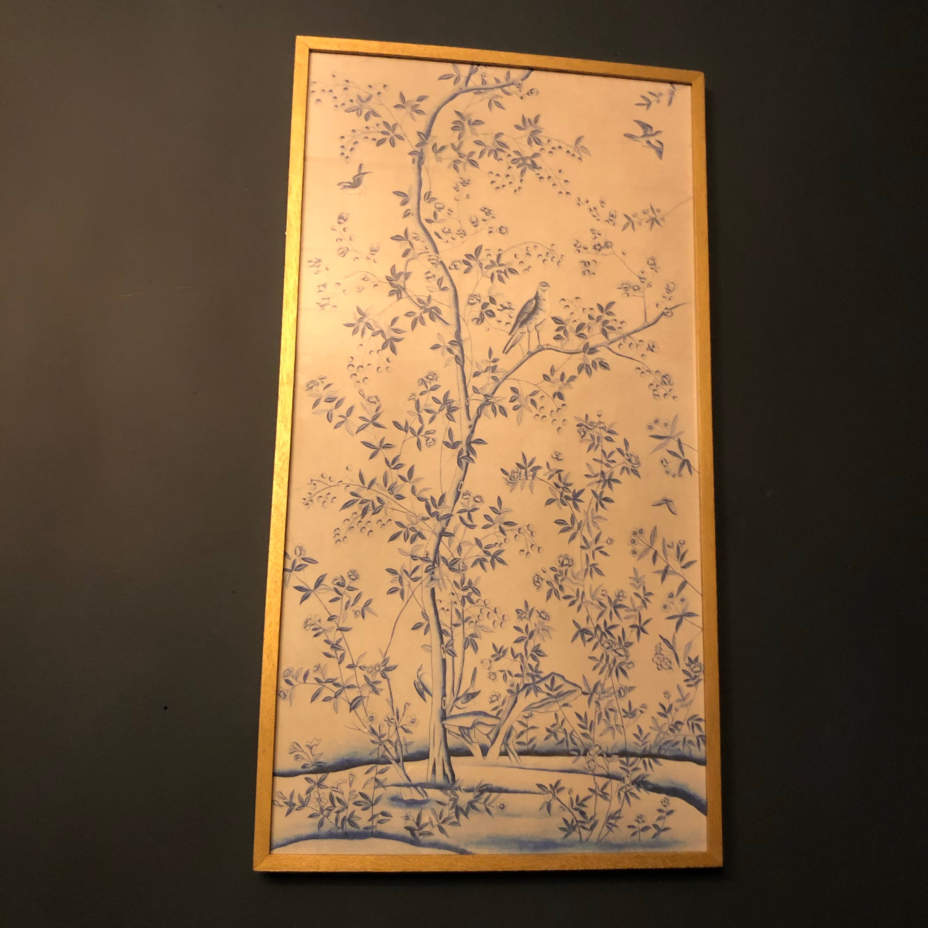 Blue blossom painting (1 of 2)