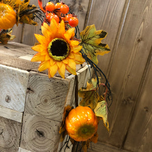 Sunflower & pumpkin garland