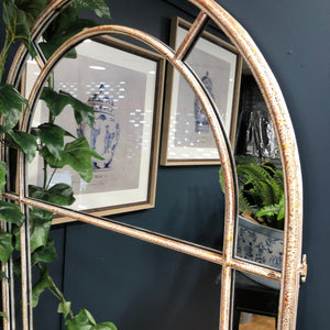 Arched Mirror with distressed frame