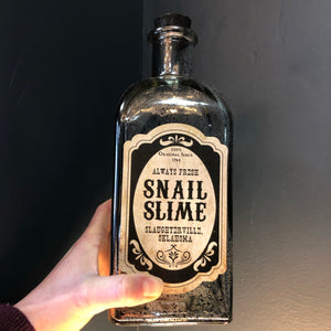 Snail slime Halloween glass bottle