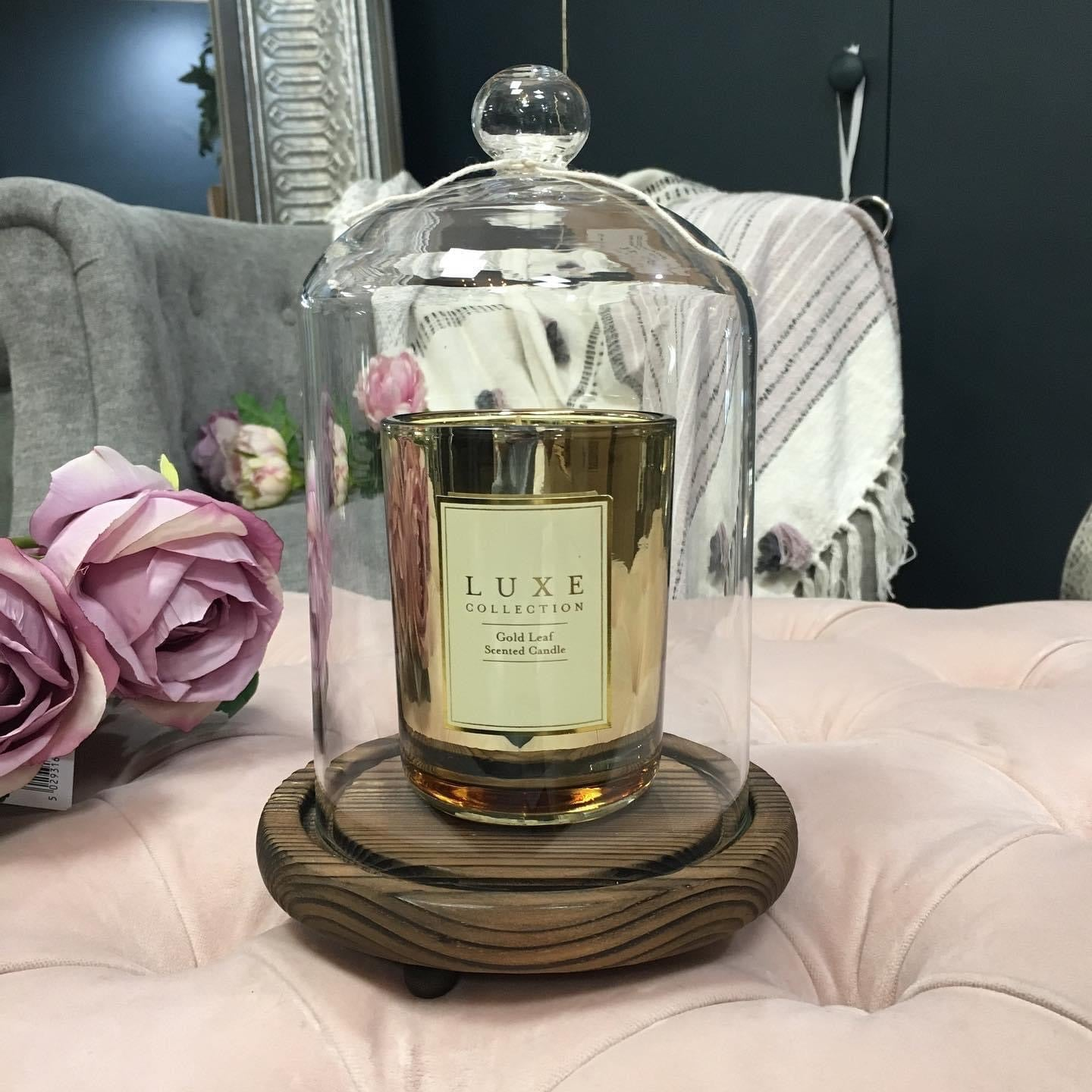 Luxe gold leaf scented candle