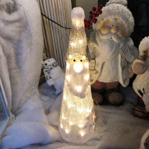 Warm white light up santa