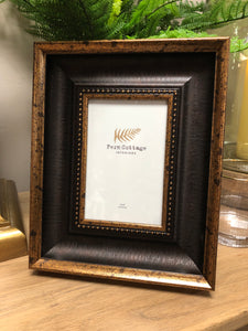 Copper and brown photo frame